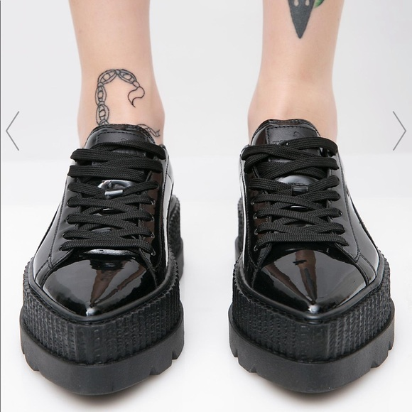 innovative design 568ff d35a4 Puma x Fenty by Rihanna Patent Platform Sneakers NWT